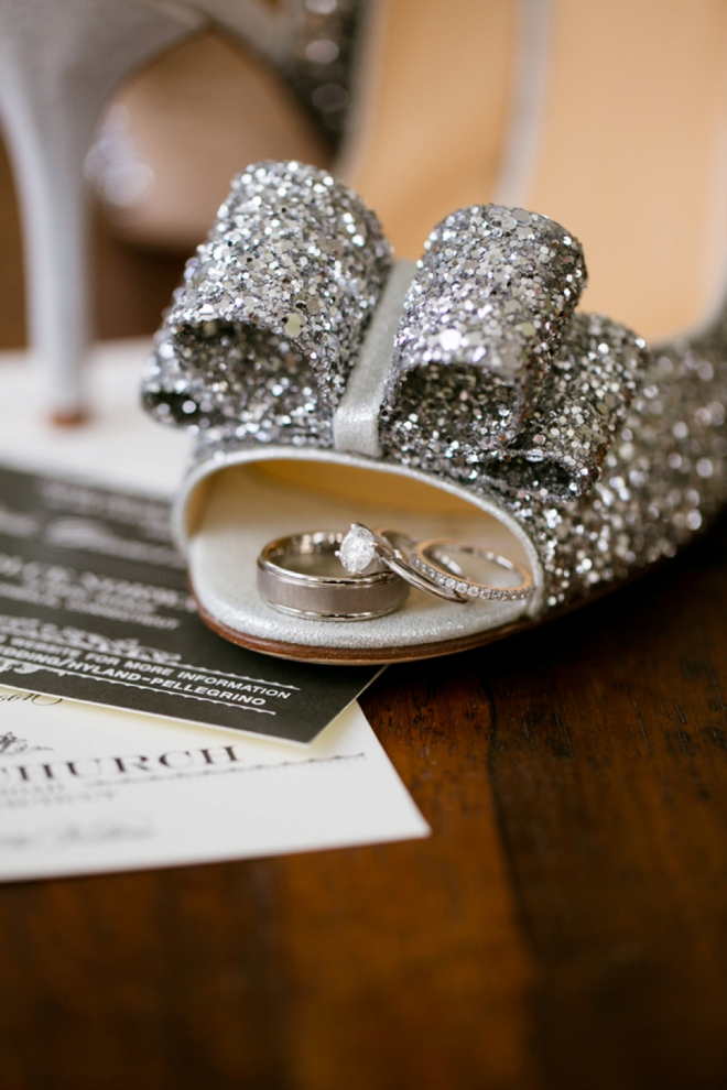 Lovely, glittery, DIY New Years Wedding