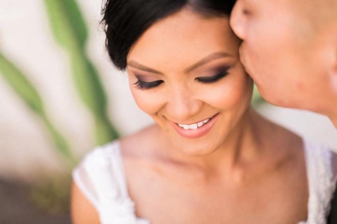 Gorgeous close up of bridal makeup