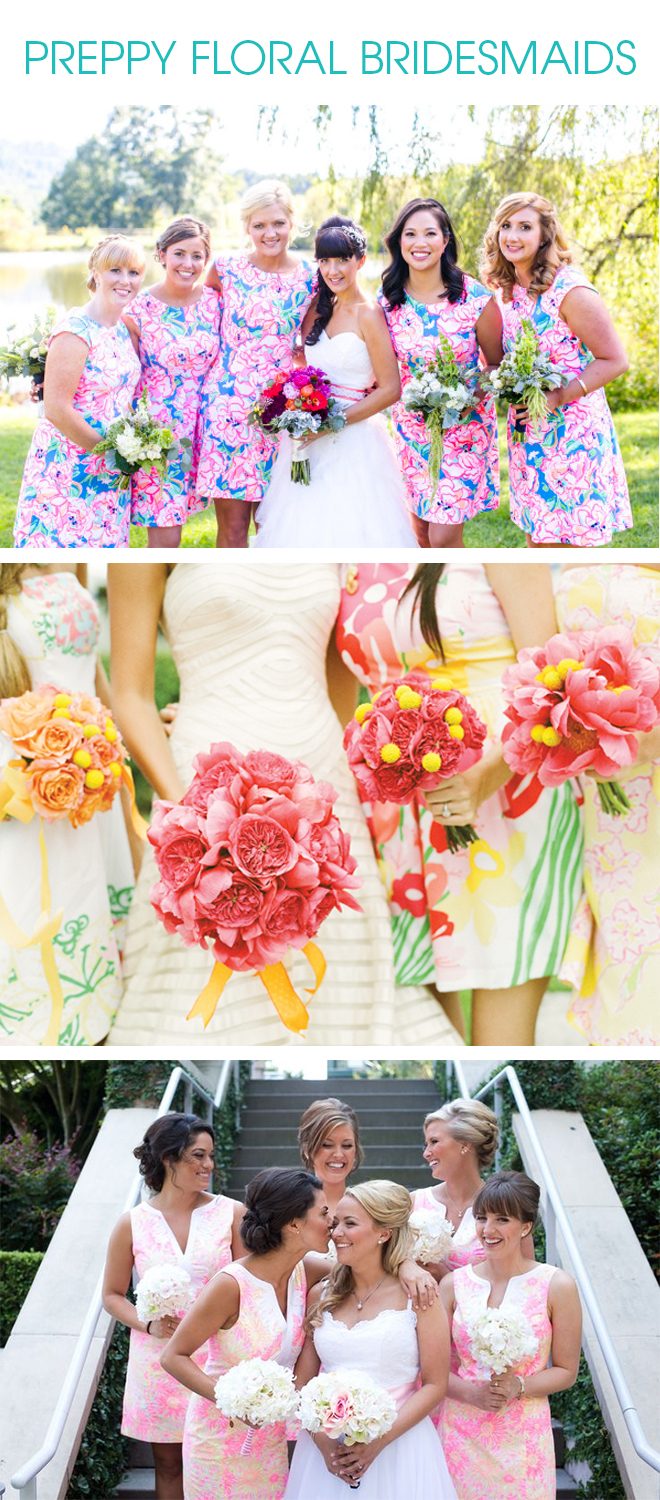 PREPPY FLORAL BRIDESMAID INSPIRATION