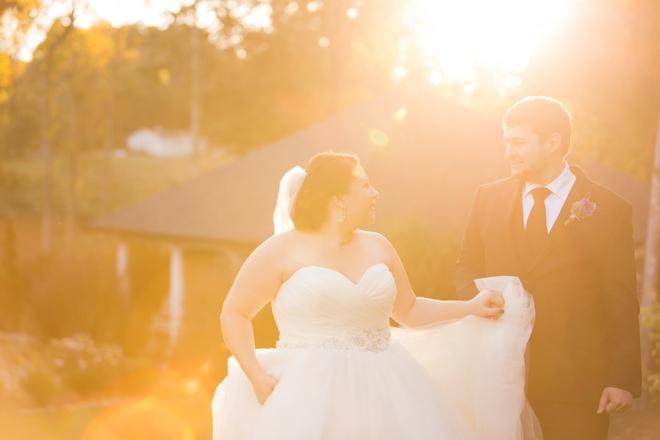 Gorgeous sunlit bridal portrait