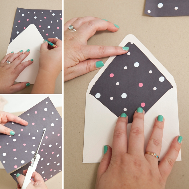 How to line an envelope, the easy way!