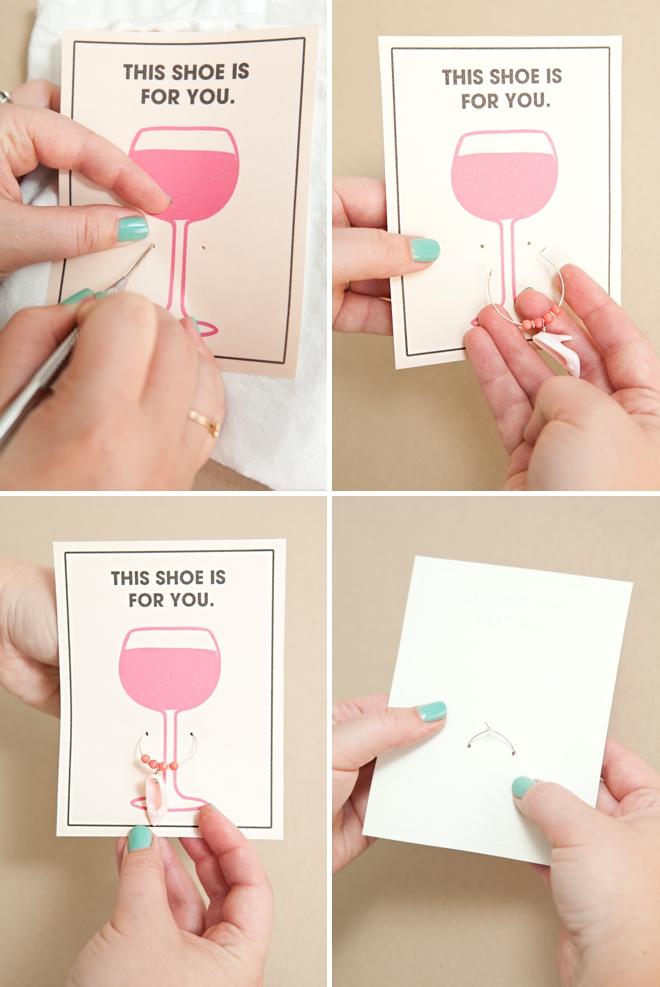 DIY Barbie Shoe Wine Charm Favors