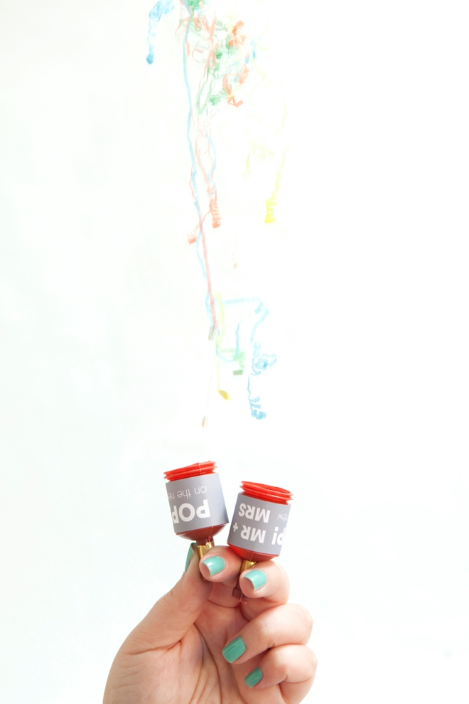 DIY wedding party poppers!