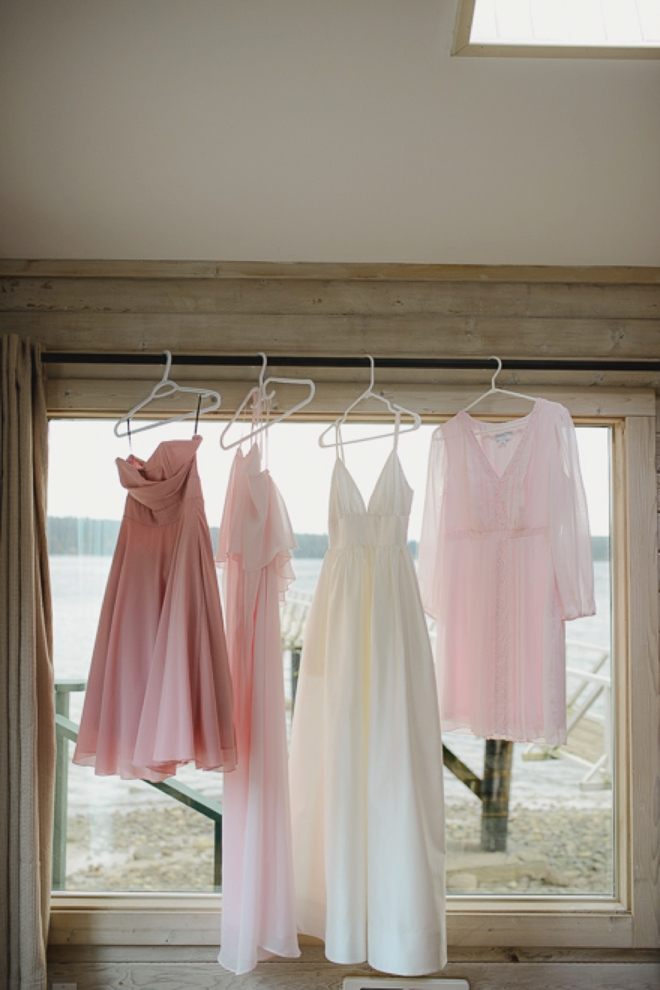 Dresses hanging up