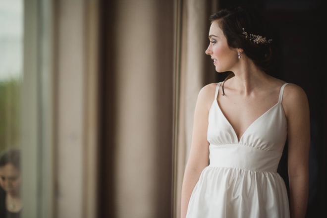 The gorgeous bride