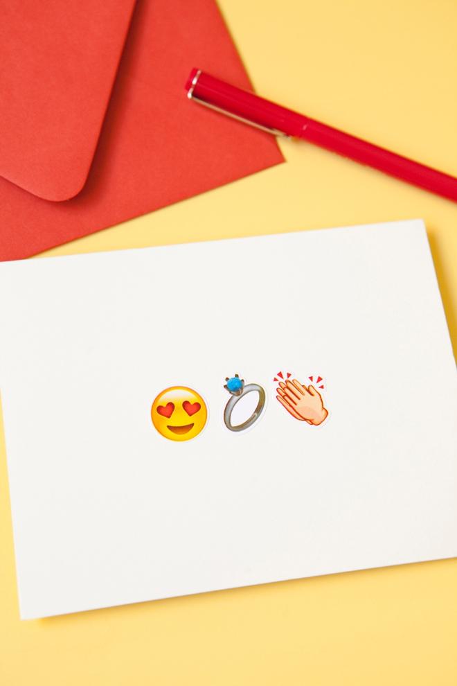 DIY awesome Emoji engagement greeting card!