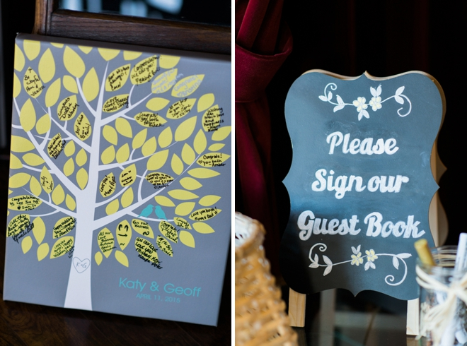 Leaf guest book canvas