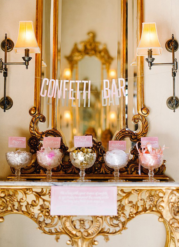 Glam Wedding confetti bar