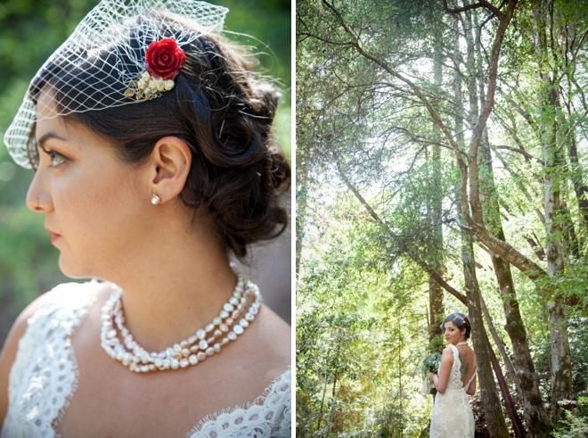 Beautiful retro bride