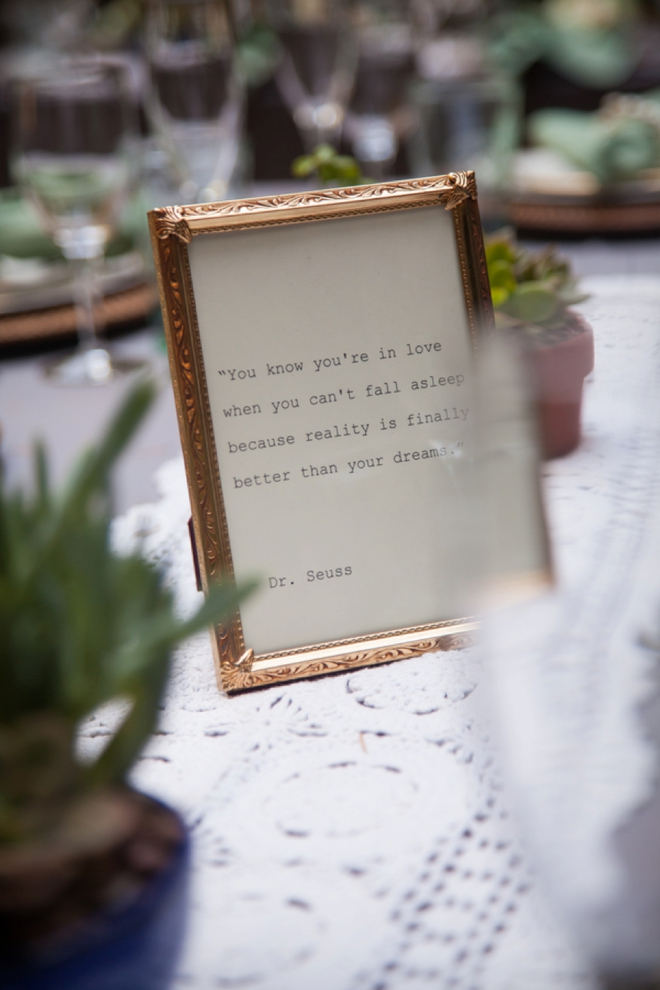 Love quote, wedding decor