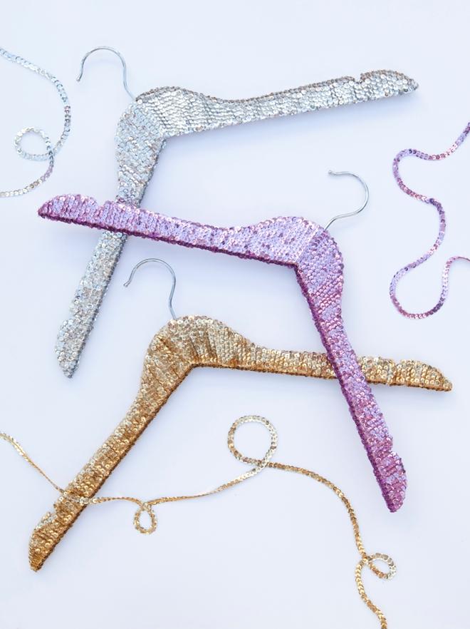 DIY - how to make sequin hangers!