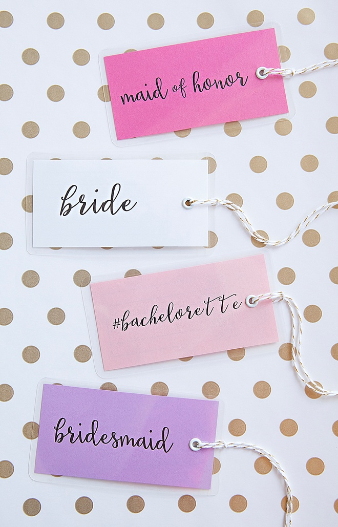 Adorable DIY bachelorette party luggage tags!
