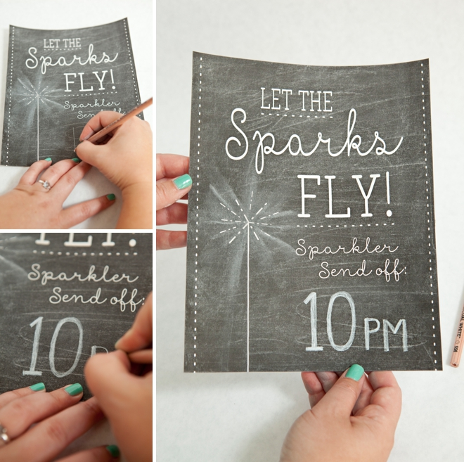 DIY Wedding Sparkler Tag And Sign Project With Free Printables