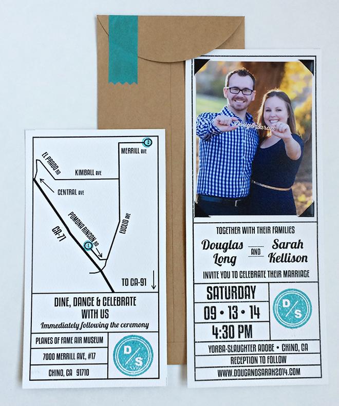 DIY'd wedding invitations!