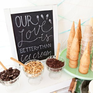 DIY Wedding Ice Cream Bar Idea