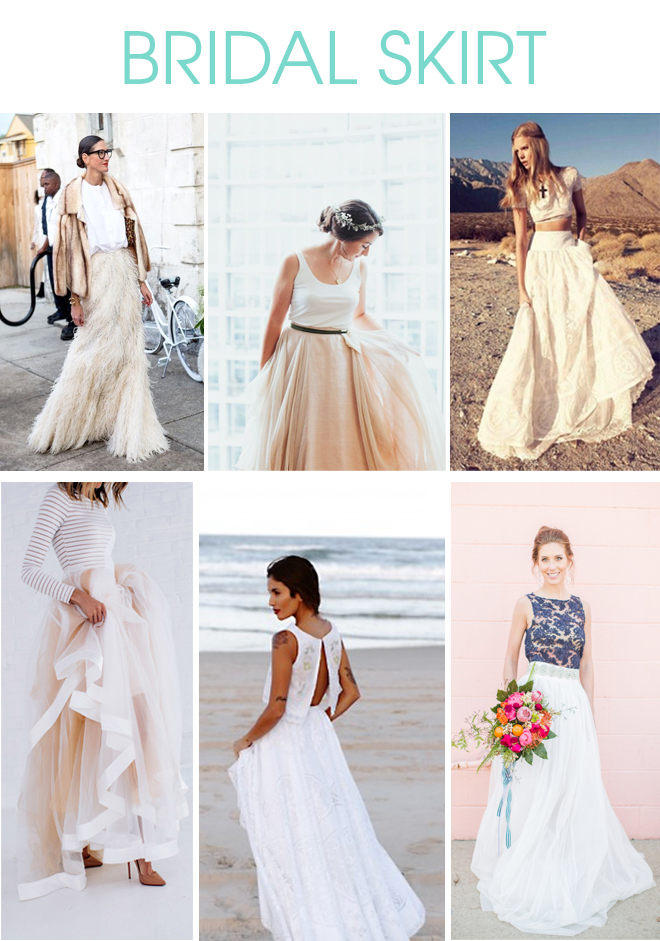 BRIDAL SKIRT - ALTERNATIVE TO A TRADITIONAL DRESS