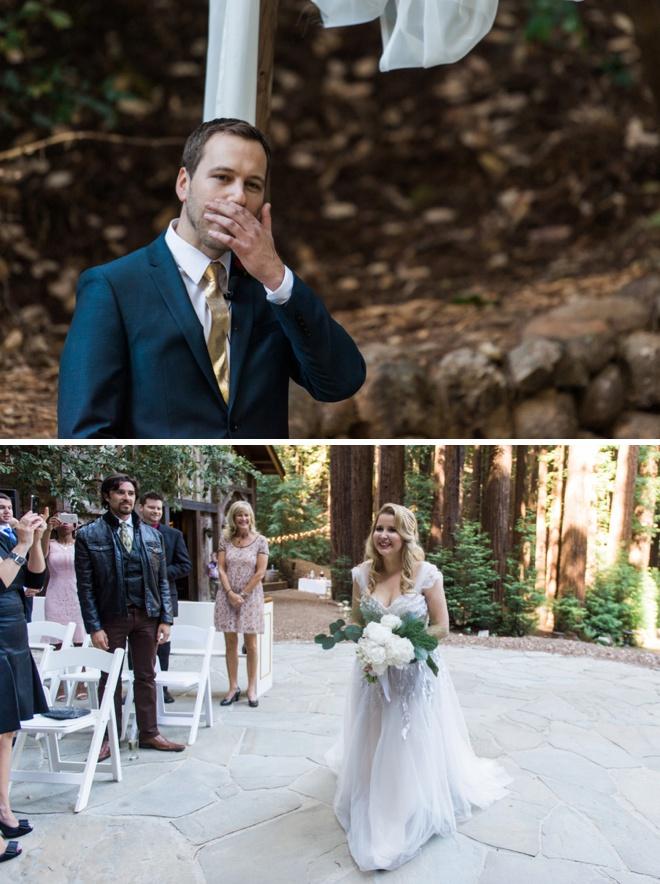 Groom emotional to see his bride