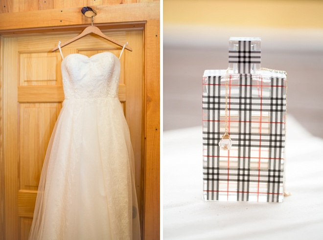 Wedding dress and perfume!