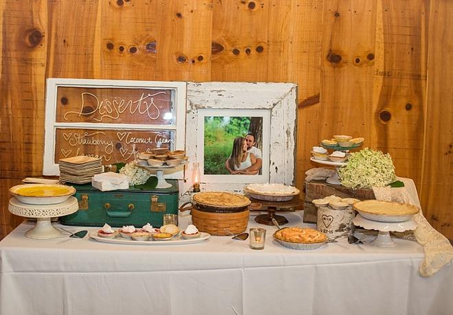 Wedding pie dessert bar!