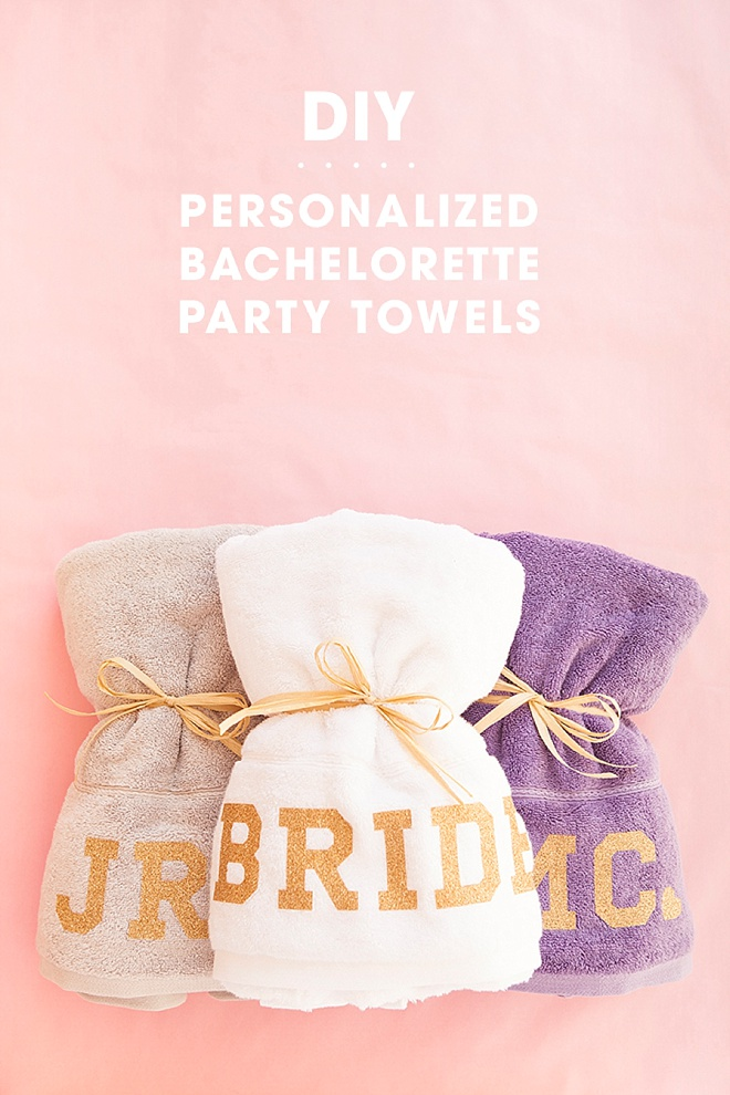 DIY Personalized Beach Towels for you Bachelorette Party!
