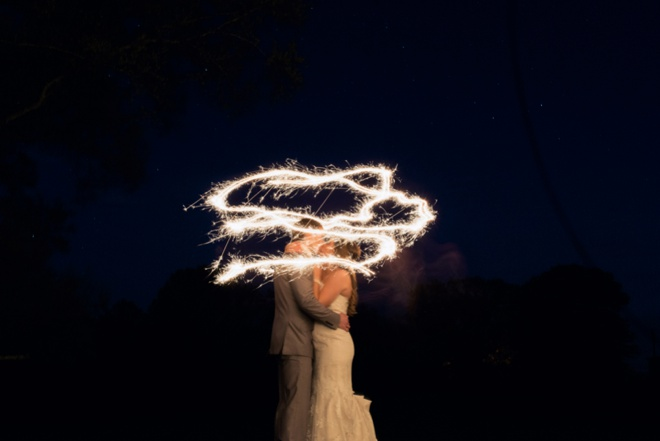 Bride and Groom sparkler pic!