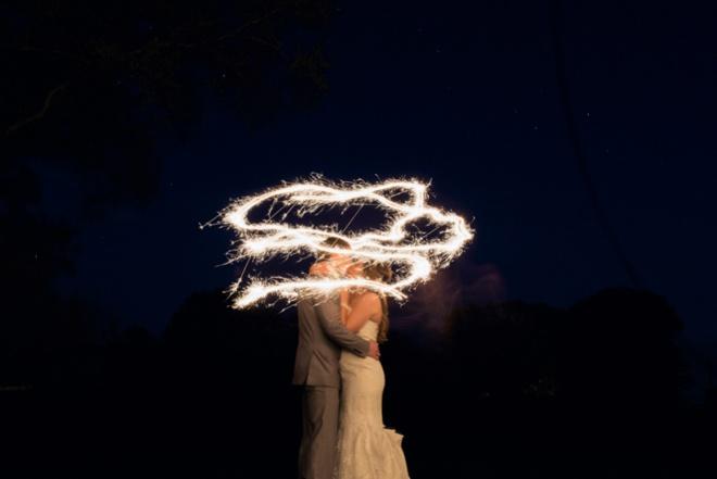 Bride and Groom sparkler pic!