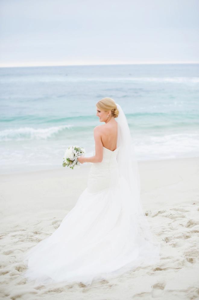 Gorgeous beach wedding portraits in La Jolla, CA.