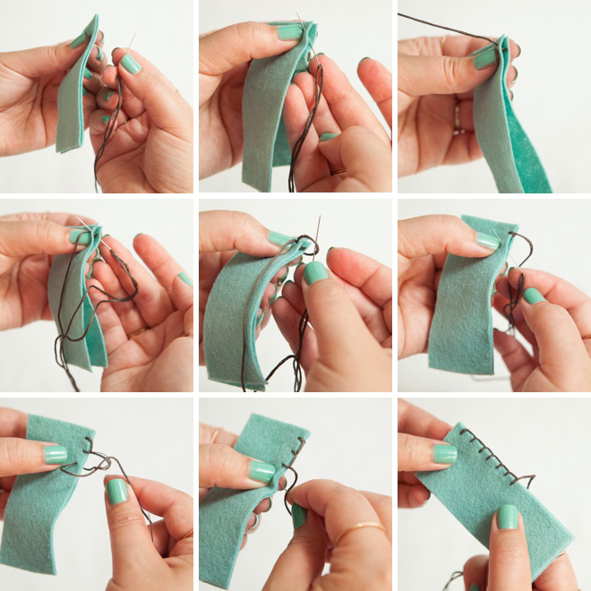 How to do the blanket stitch!