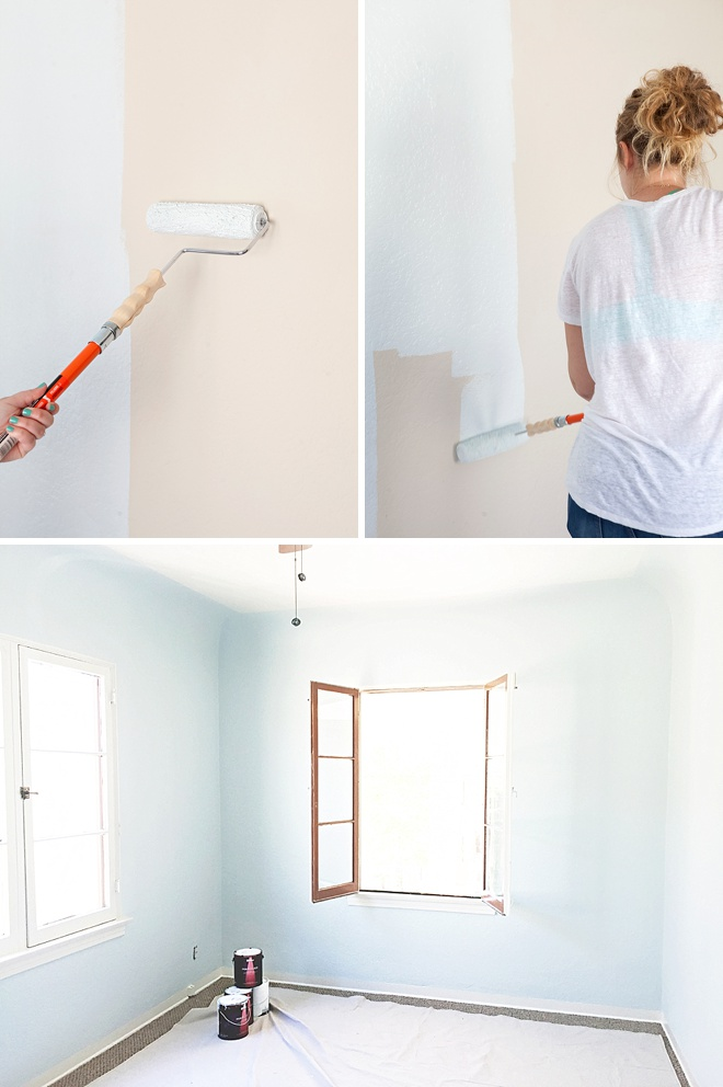 Painting the Something Turquoise craft room with Behr Paint!