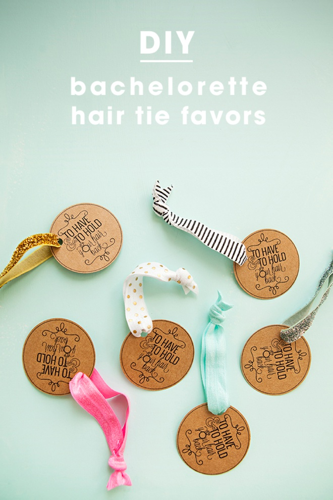 Learn how to make elastic hair tie favors for Bachelorette party decoration ideas diy