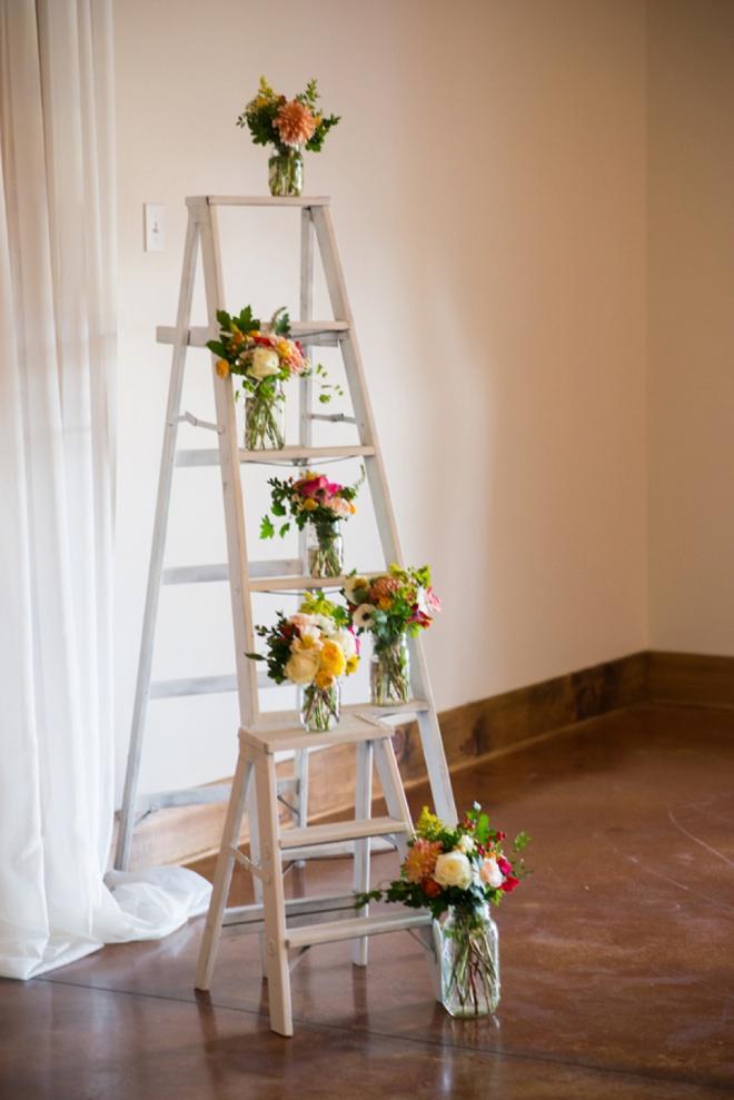 Ladders as wedding ceremony decor!