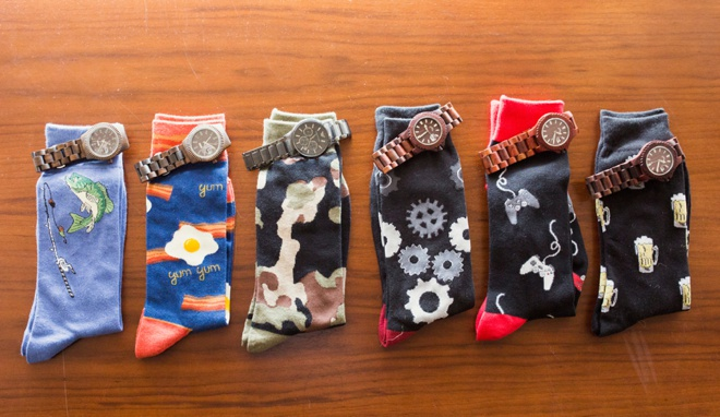 Groomsmen gifts - sock and watches!