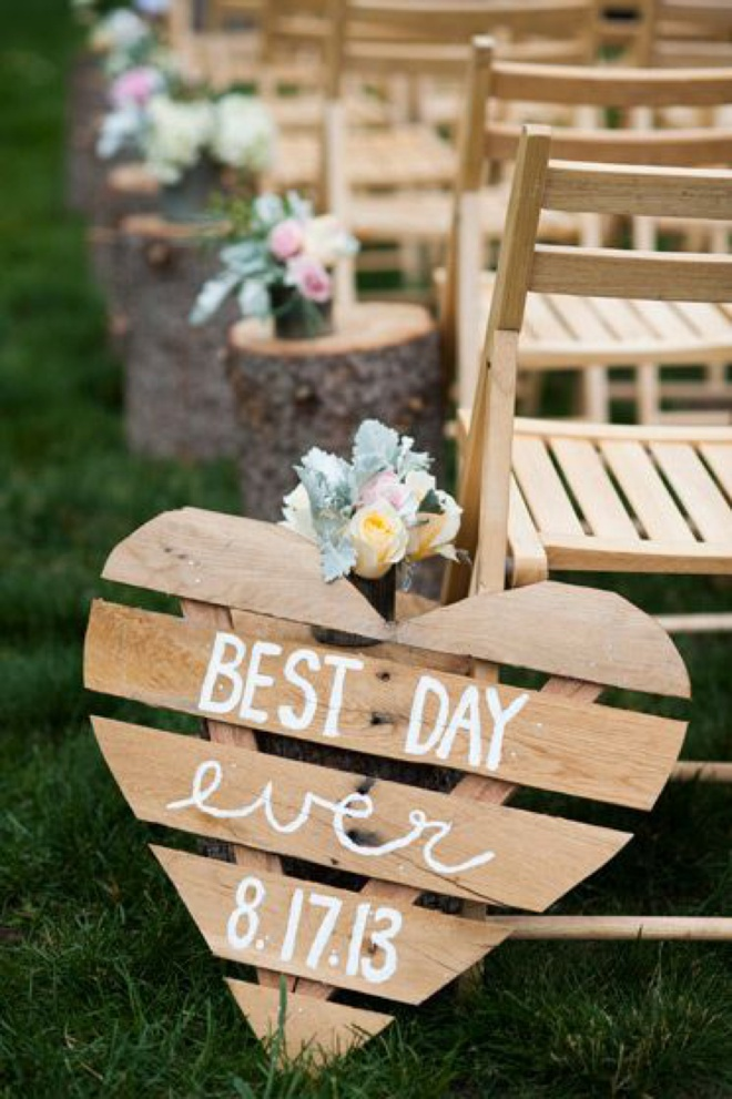 Best Day Ever, wedding sign.
