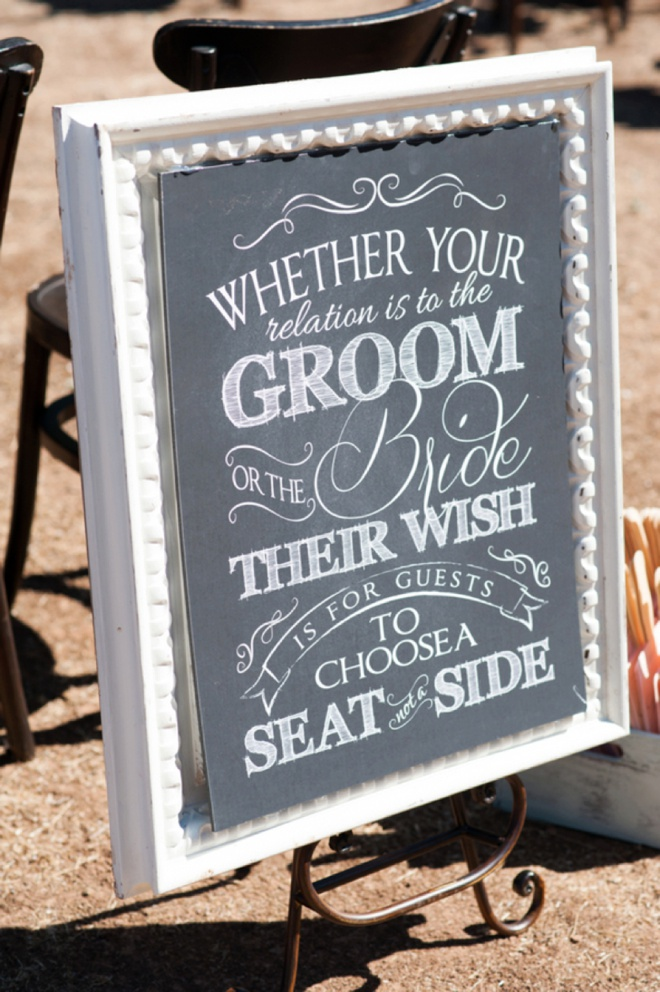 Image result for wedding sign we're all family choose a seat not a side