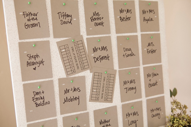Awesome idea for easy DIY escort cards + FREE design printable!