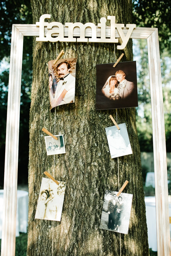 Display your family wedding pictures! Such a fun idea!