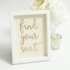 How to make a Find Your Seat wedding sign.