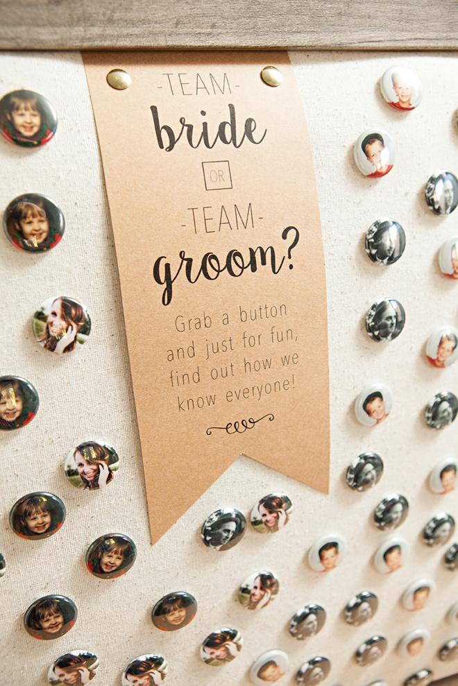 Are you team bride or team groom? Great ice breaker!