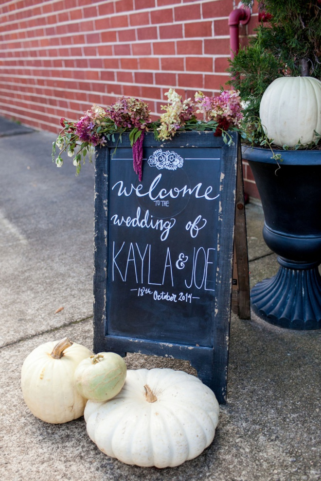 Welcome to the fall wedding of Kayla and Joe!