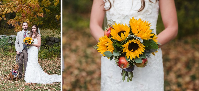 Such a Darling Rustic Wedding and Sunflower Bouquet!