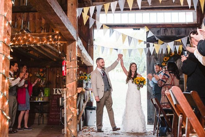 Love This Rustic Barn Wedding Reception Entrance!