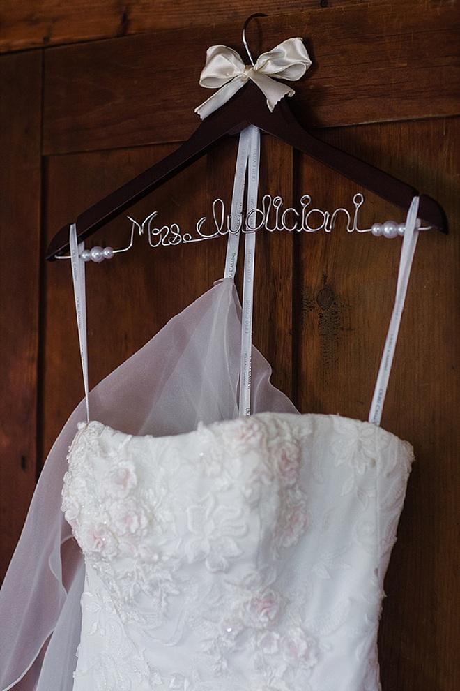 Mrs. Bridal Hanger with Dress!