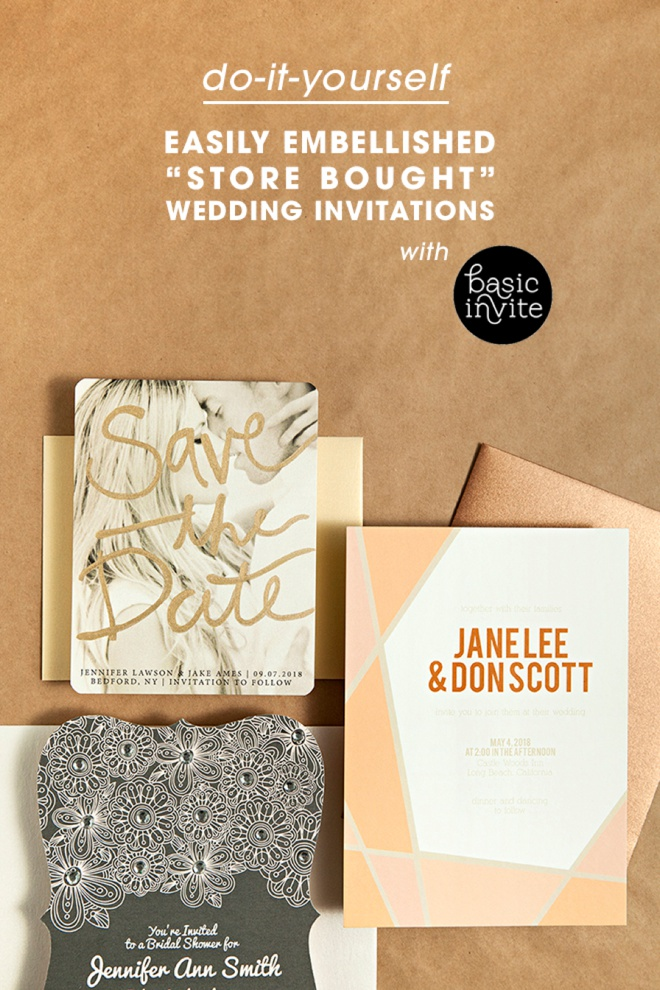 How to easily embellish store bought wedding invitations, great tips!