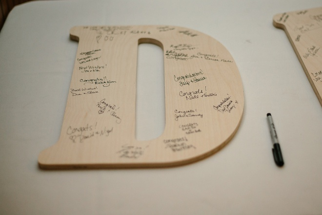 We love this darling guestbook letter alternative!