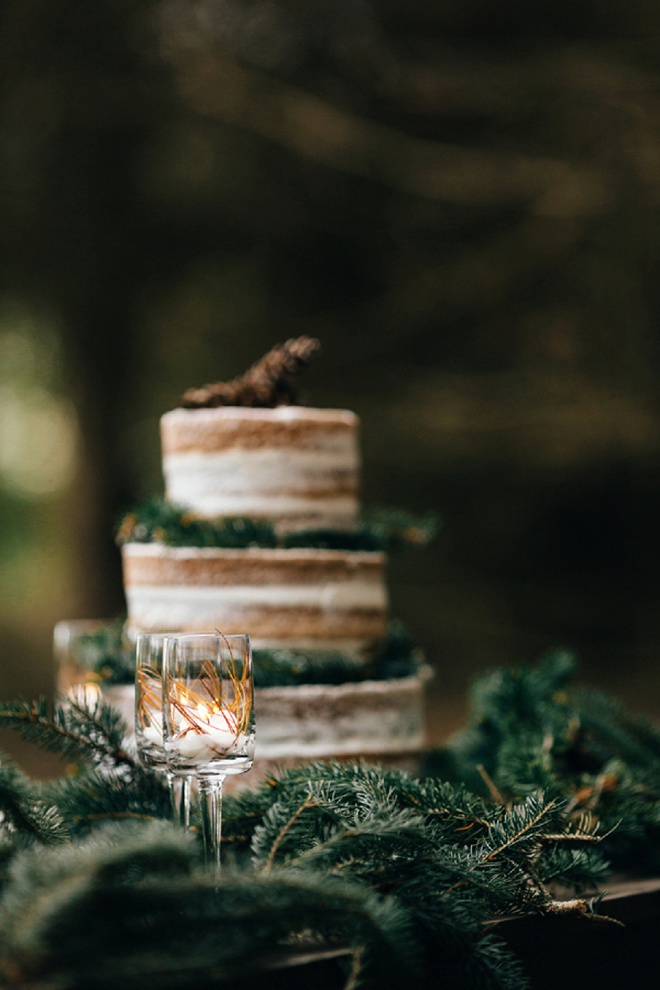 Adorable rustic wedding cake!