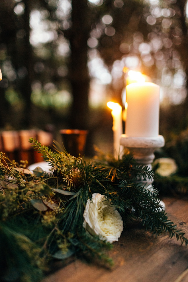 Gorgeous candle lit cozy holiday tablescape!