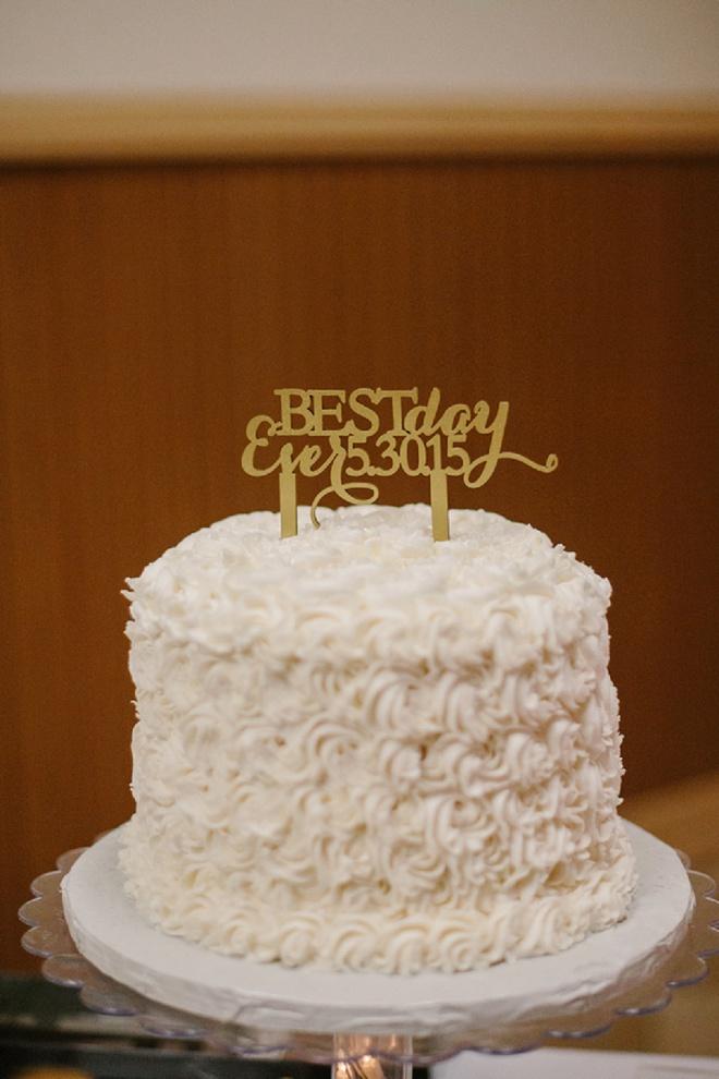 Darling Best Day Ever Wedding Cake