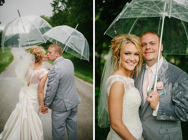 Beautiful rainy day wedding!