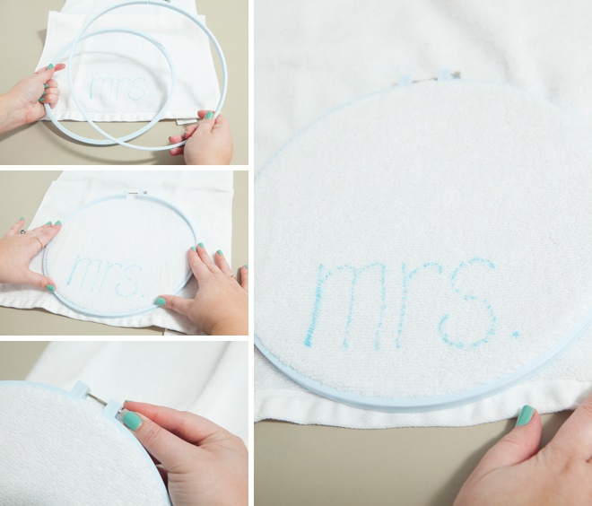 How to quickly and easily embroider custom hand towels!