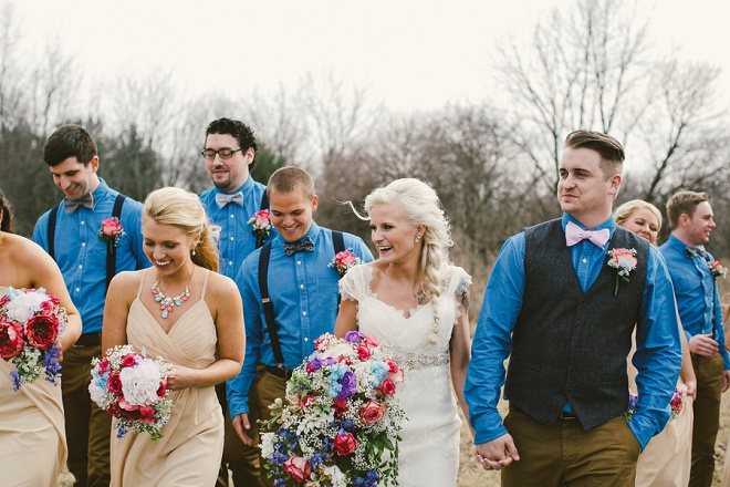 We love this fun wedding party!